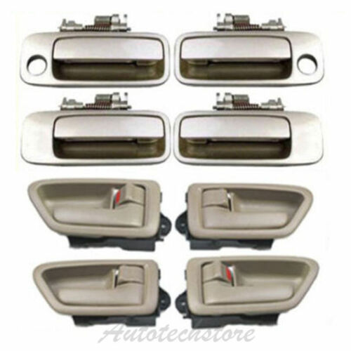 Door Handle Set 8 For 97 98-01 Toyota Camry 4 Inner Tan+4 Outside Beige 4M9 DS13