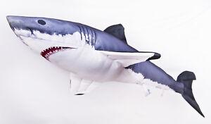 Das Bild Wird Geladen GABY DER WEISSE HAI  Stofftier120cm Plueschtier Kuscheltier Fisch