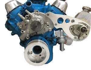 New-Ford-Power-Steering-Bracket-Mechanical-Water-Pump-289-302-351W-SBF-Circle