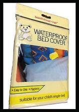 WATERPROOF CHILDS BED COVER SINGLE MATTRESS PROTECTOR PLASTIC SHEET WETTING KIDS