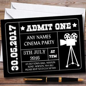 black admit one movie film cinema childrens birthday party