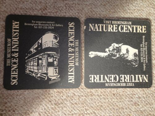 Beer drinks mats drip coaster Birmingham MUSEUMS SCIENCE NATURE M&B RARE