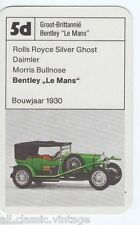 OLDTIMER CARS - 5d - Bentley Le Mans 1930 Kwartet card/Quartet card