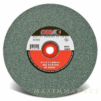 """CGW 6/""""X1//2/""""X1/"""" Green Silicon Carbide Straight Grinding Wheel Grit-60 80 or 100"""