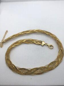 Vintage-Kette-Halskette-925-Silber-Vergoldet