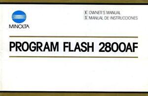 Minolta Program Flash 2800AF Instructions