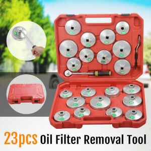 23PCS-Cup-Type-Aluminium-Oil-Filter-Wrench-Removal-Socket-Remover-Tool-Kit-AU