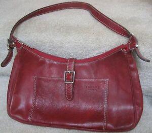 Image Is Loading I Medici Firenze Burgundy Leather Purse Handbag Made