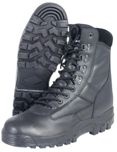 Tutti in MIL-COM Pelle Esercito Pattuglia Stivale Stivali Neri Combat MIL-COM in Lacci Thinsulate Caldo ef6189