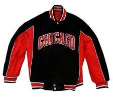 New JH Design NBA Mens Chicago Bulls Reversible Jacket Red/Black Size X-Large