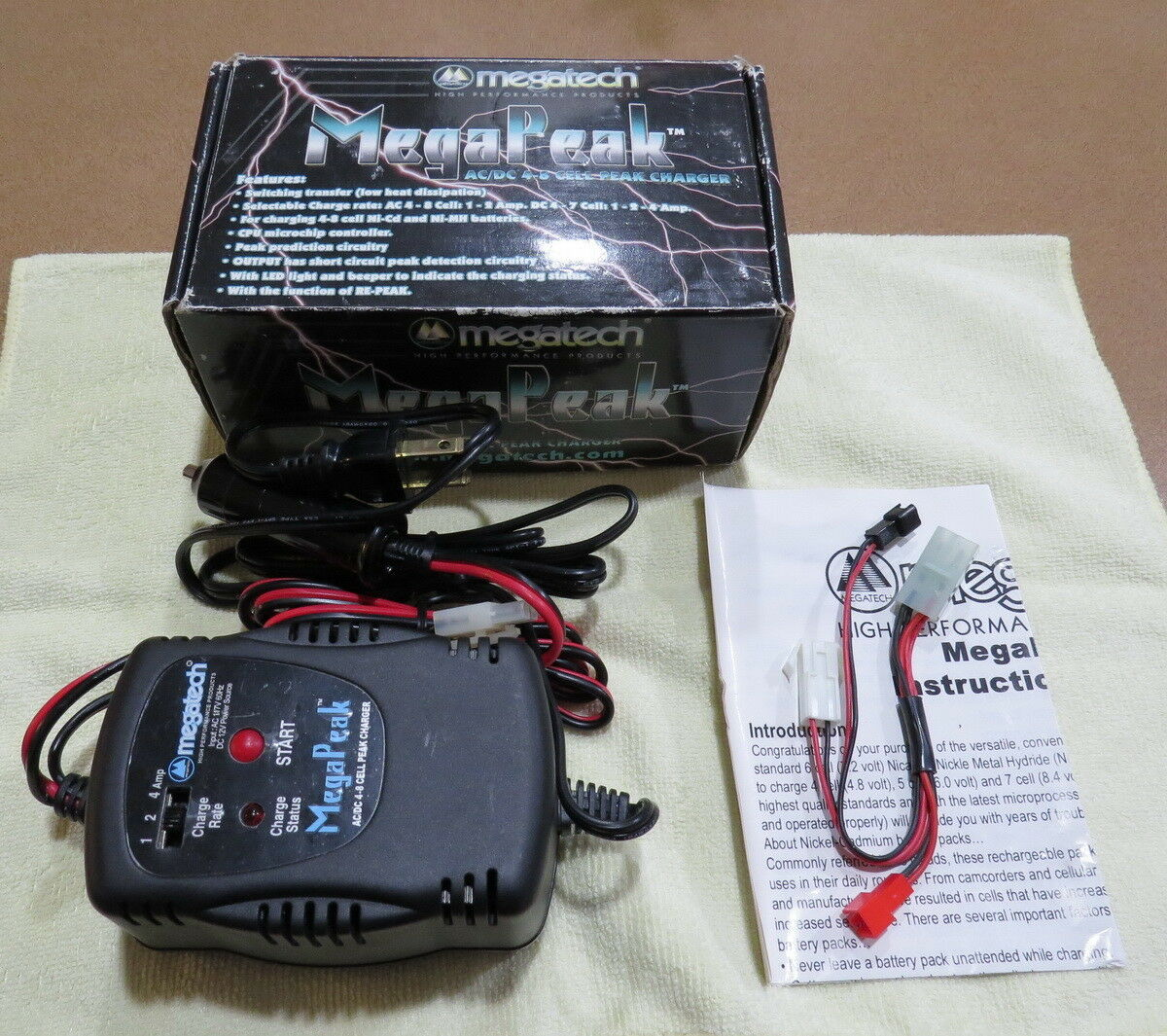 AC DC 4-8 4-8 4-8 CELL NiCd NiMh Peak Charger - Losi - Associated - Traxxas - Tamiya ff1f0d