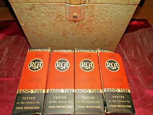 Vintage-TUBES-Electronic-RCA-RADIOTRON-815-VT-287-NOS-TUBES-4-LOT-With-BOXES