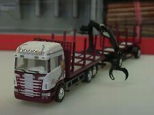 Herpa Scania R HL ROLAND SCHOLZ Holztransporter-Hängerzug - 307147 - 1:87