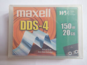 Maxell-DDS4-DDS-4-DAT-Data-Tape-cartouche-20-40GB-HS-4-150S-4-mm-nouveau