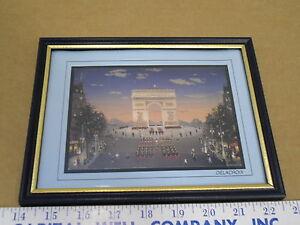"""Michel Delacroix Framed Arc De Triomphe - Paris, France 4"""" x 6"""" Post Card"""