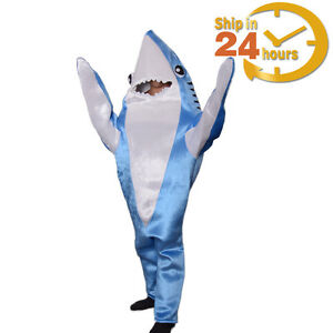 Image is loading Animal-Shark-Costume-Adult-Halloween-Fancy-Dress-Party-  sc 1 st  eBay : shark halloween costume adult  - Germanpascual.Com