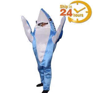 Image is loading Animal-Shark-Costume-Adult-Halloween-Fancy-Dress-Party-  sc 1 st  eBay & Animal Shark Costume Adult Halloween Fancy Dress Party Cosplay ...