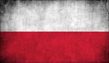 3x5 inch Poland VINTAGE Flag Sticker -decal proud car window bumper euro polish