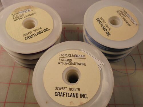 328 Feet 100 Meters 7 Strand Nylon Coated Beading Wire Purple Color