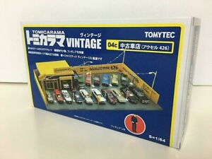 Tomytec-TOMICARAMA-Vintage-04c-Used-Car-Shop-Axel-426-1-64-Diorama-Limited-Set