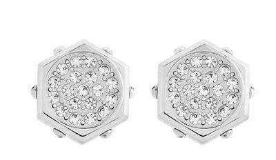 Swarovski Bolt Pierced Earrings Clear Crystal Authentic MIB - 5098362