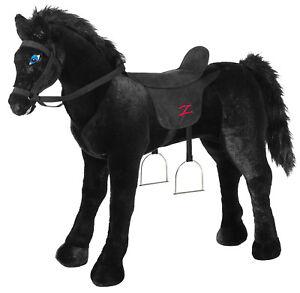 ZORRO-Reitpferd-Kinder-Pferd-TORNADO-Stehpferd-Riesen-Pluesch-Pferd-L-o-XL
