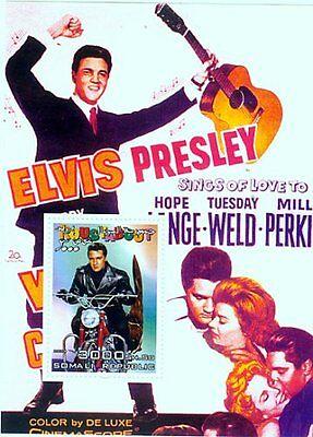 Elvis Presley -  Stamp Souvenir Sheet -  - 19B-050