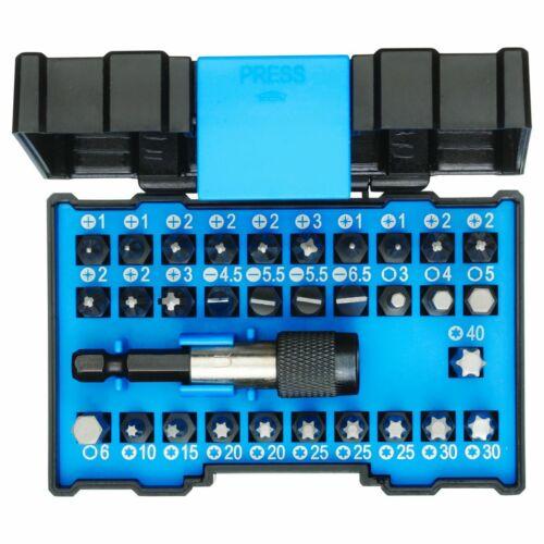Gedore 666-032-A Bit-Box Allround 32-teiliger Bitsatz mit Bithalter in Kasten