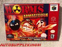 Worms: Armageddon (nintendo 64, N64) Video Game Custom Art Box + Tray Only