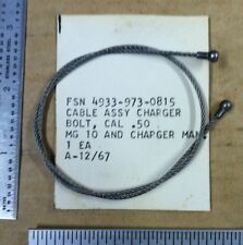 Cable Assembly Charger Bolt .50 Cal MG 10 - NOS - A0314