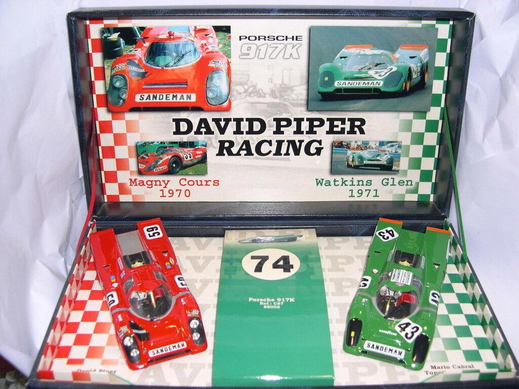 FLY 96010 TEAM 04 SLOT CAR PORSCHE 917 K TEAM PIPER DAVID EDITION LIMITÉE MB