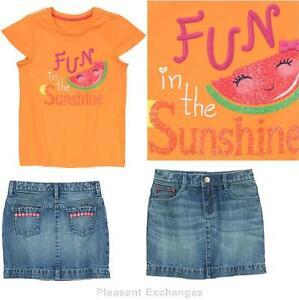Gymboree NWT Girls Sunny Citrus Sweet Tart Tee Shirt Top Sizes 4 5 6 7 8 /& 10