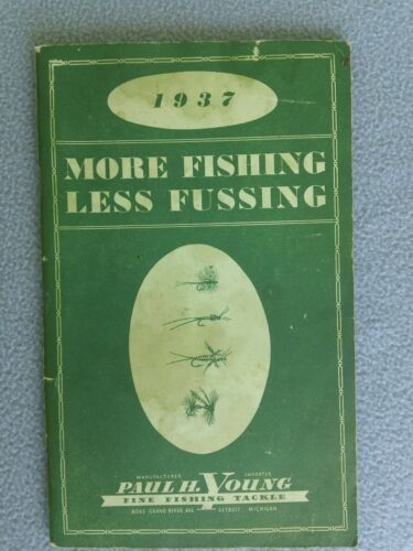 Vintage Rare 1937 Paul H. Young Fly Rod & fine Fishing Tackle catalogue