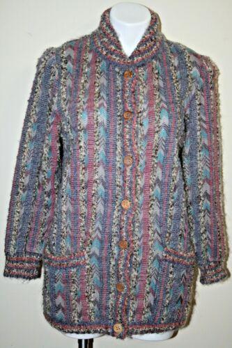 Vintage MISSONI Orange Label Sweater Jacket Chevro