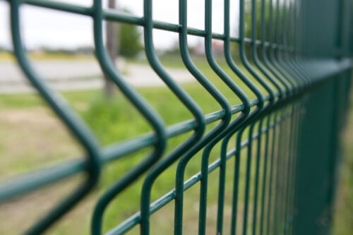 Stabgitterzaun gittermattenzaun clôture de jardin avec poteaux 20 M 103 cm 3d 4 mm vert!