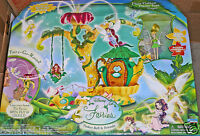 Set Disney Fairies Pixie Hollow Home Tree Playset Tinker Bell Playmates
