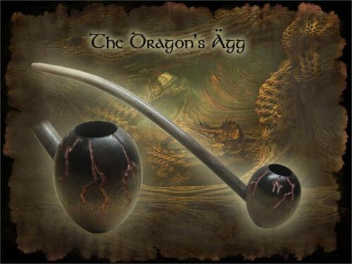 MacQueen Dragon/'s Agg Egg Churchwarden Tobacco Pipe Smoke Rings Birch Wood