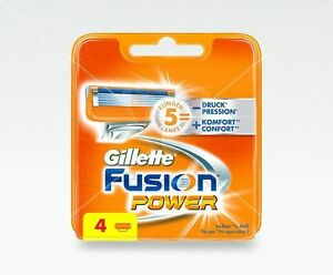Gillette-Fusion-Power-Rasierklingen-4-Stueck-Ersatzklingen-Original-NEU-amp-OVP