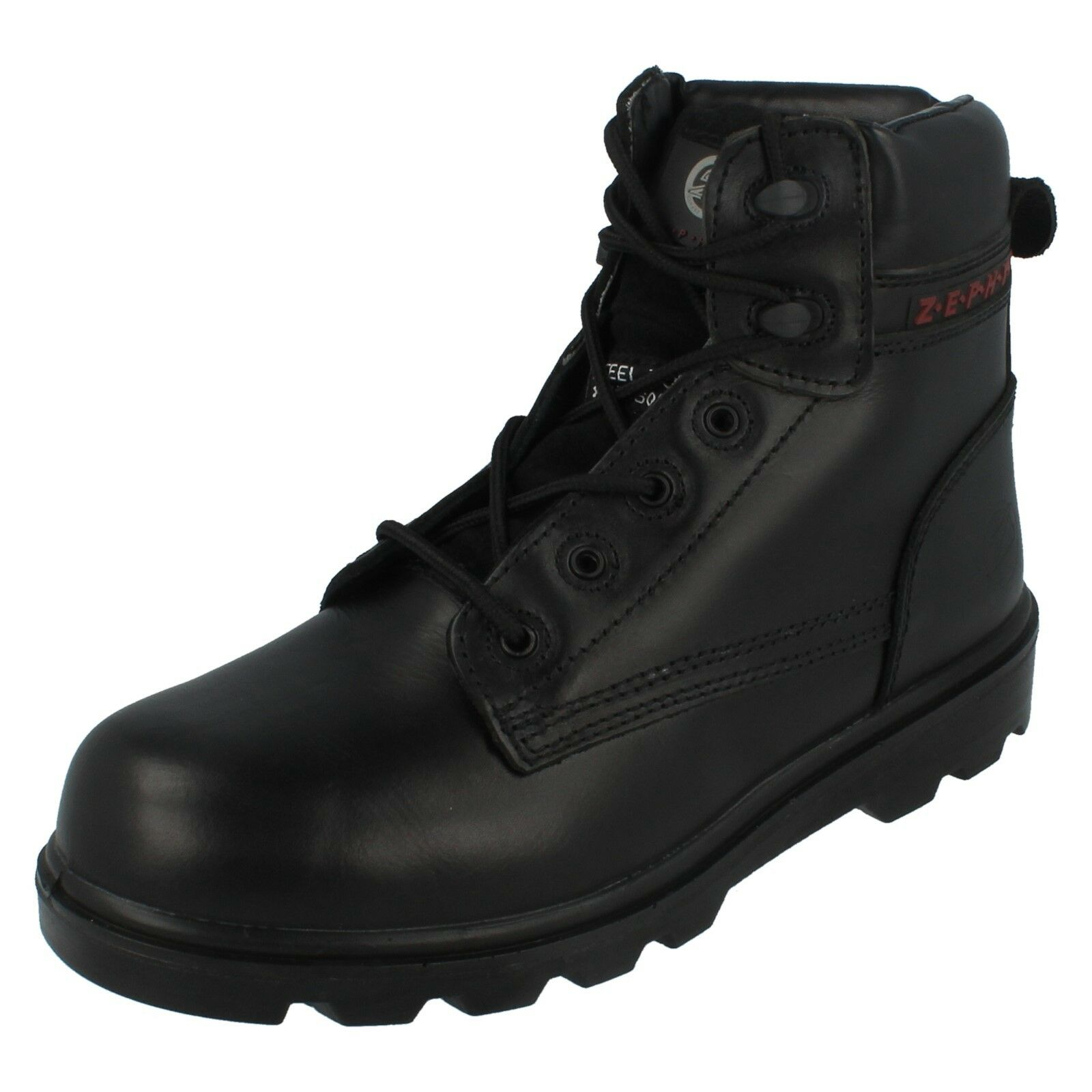 Mens ZX17 S3 SRC Leather Steel Toe Cap & Midsole Work Boots By Zephyr