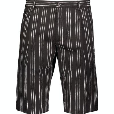 IT46 W32 NEW $740 DOLCE /& GABBANA Shorts White Black Striped Hemp Casual s