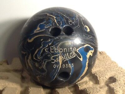 Vintage Bowling Ball Vintage Ebonite Satellite Bowling Ball OVI9393   eBay