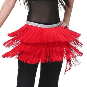 Belly-Dance-Costume-3-Layers-Tribal-Fringe-Tassels-Hip-Scarf-Wrap-Belt-New