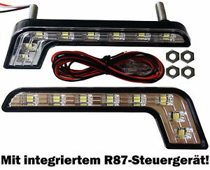 2x led tagfahrlicht bright 8smd opel insignia meriva. Black Bedroom Furniture Sets. Home Design Ideas