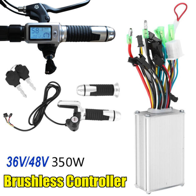 24//36//48V 250W//350W Brushed E-bike Scooter Motor Speed Controller LCD Panel Set