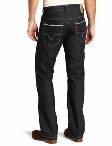 Levis-527-Low-Rise-Boot-Cut-Carrier-Jeans-Denim-Blue-Black-0001-Size-32-x-34