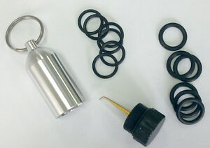 Mini-Aluminum-Scuba-Diving-Tank-with-12-O-Rings-AND-Brass-Pick-Dive-Key-Chain