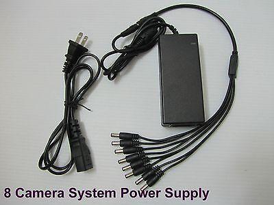 12V DC 8A Power Supply Adapter +8 Split Power Cable CCTV Security Camera DVR