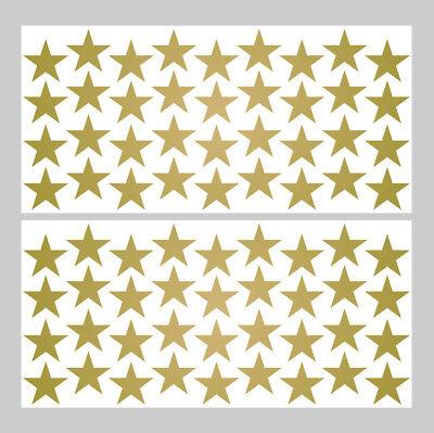 Sterne // Star Wandtattoo Embleme Gold 72 St. Aufkleber Set Deko Sticker