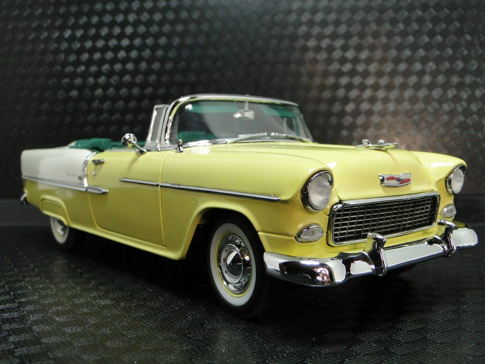 1955 Chevy Bel Air Chevrolet 1 24 Sport Car Vintage 12 carrusel amarillo Metal 18