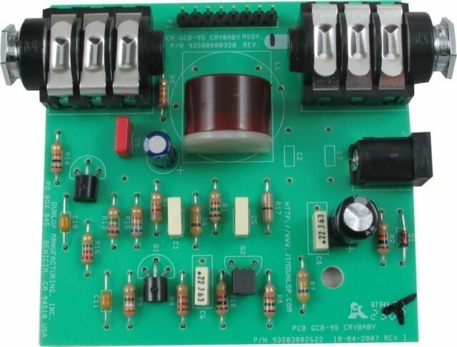 Dunlop Crybaby Wah GCB-95 Replacement PCB Circuit Board with Red Fasel  Inductor
